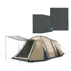 Whole Earth 送料無料(対象外地域有) テント 大型 4人 DURA W ROOM+ 2ルームテント スターターセット テント+マット+グランドシート3点セット (メンズ、レディース)