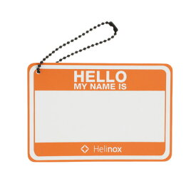 ヘリノックス(Helinox) Hello my name is パッチ ハンターオレンジ 19759017005000 (Men's、Lady's)