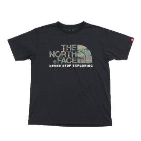 ノースフェイス(THE NORTH FACE) カモフラージュロゴ 半袖Tシャツ NT31932 K (Men's)