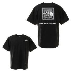 【10%OFFクーポン☆8/7迄】ノースフェイス(THE NORTH FACE) 半袖Tシャツ ショートスリーブバンダナスクエアロゴTシャツ NT32108 K (メンズ)