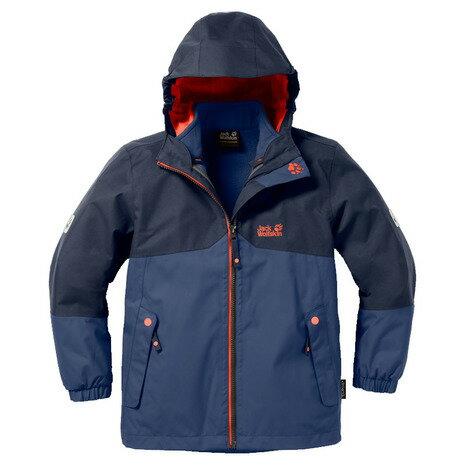 ジャックウルフスキン(JackWolfskin) アイスランド 3イン1 ボーイ W1605252-1010 ナイトブルー キッズ 防水 防寒ジャケット (Jr)