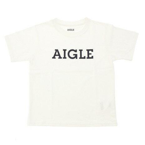AIGLE 吸汗速乾 DFTキッズロゴ 半袖Tシャツ ZTJ001J-001 (Jr)