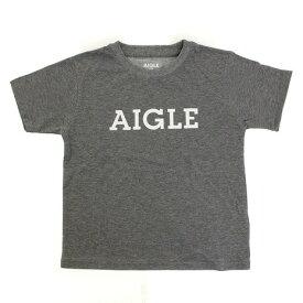 AIGLE 吸汗速乾 DFTキッズロゴ 半袖Tシャツ ZTJ001J-104 (Jr)