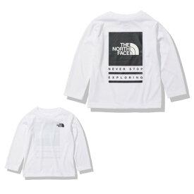 ノースフェイス(THE NORTH FACE) バグフリーロゴ 長袖Tシャツ NTJ12134 W (キッズ)