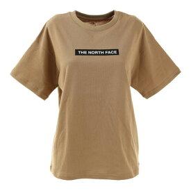 【10%OFFクーポン☆8/1迄】ノースフェイス(THE NORTH FACE) 半袖Tシャツ ショートスリーブボックスロゴティー NTW32101X KT シンプル ベージュ (レディース)