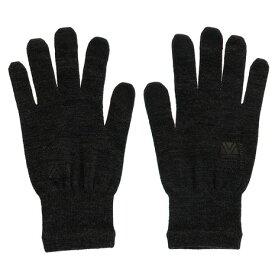 【3点以上で10%OFFクーポンあり 5日限定 4時間限定 ポイント14倍〜 8/5 20:00-23:59 要エントリー&楽天カード決済】 カリマー(karrimor) wool logo グローブ 5G04UAI1-Black (Men's)