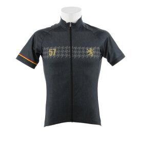カペルミュール(KAPELMUUR) ブラックデニムプリント 半袖サイクルジャージ kphs287 (Men's)