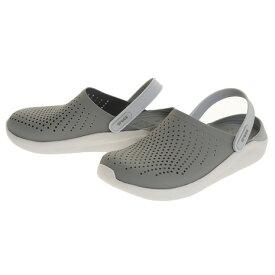 クロックス(crocs) サンダル ライトライド クロッグ SmokWhi 204592-06J オンライン価格 (メンズ、レディース)