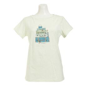 HUITIEME 【多少の汚れ等訳あり大奉仕】グラフィック Tシャツ TRAVEL HU17STUR864729EGRN (Lady's)