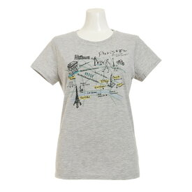 HUITIEME グラフィック Tシャツ PARIS HU17STUR864730LGRY (Lady's)