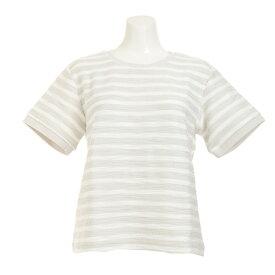 HUITIEME 【多少の汚れ等訳あり大奉仕】FANCY BOPRDER Tシャツ HU17STUR864713WHT (Lady's)