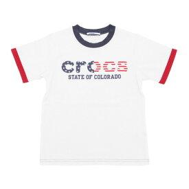 クロックス(crocs) 【多少の汚れ等訳あり大奉仕】CR ロゴTシャツ cr117600IVO17S (Jr)