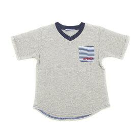 クロックス(crocs) 【多少の汚れ等訳あり大奉仕】CR 無地ポケット付きTシャツ cr117607GY17S (Jr)