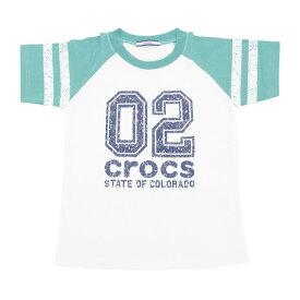 クロックス(crocs) 【多少の汚れ等訳あり大奉仕】CR ナンバーTシャツ cr117602GN17S (Jr)