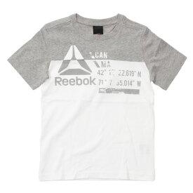 リーボック(REEBOK) 【多少の汚れ等訳あり大奉仕】ボーイズ WOR CO 切替 Tシャツ MLI34-BK4422 (Jr)