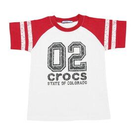 クロックス(crocs) 【多少の汚れ等訳あり大奉仕】CR ナンバーTシャツ cr117602RD17S (Jr)