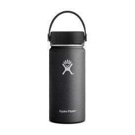 【5%OFFクーポン発行中 1月25日迄】 HydroFlask ハイドロフラスク Hydro Flask 16 oz Wide Mouth 5089022-Black 水筒 ステンレスボトル (Men's、Lady's)