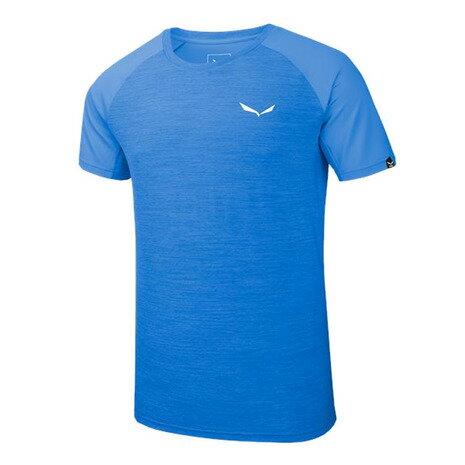 サレワ(SALEWA) PEDROC HYBRID DRY M S/S TEE 26290 3421 ROYAL BLUE MELANGE メンズ 半袖Tシャツ (Men's)