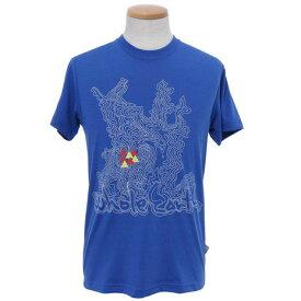 ホールアース(Whole Earth) 【多少の汚れ等訳あり最終処分】Tre Map 半袖Tシャツ WES17M02-5706 BLU (Men's)