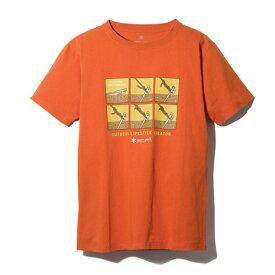 スノーピーク(snow peak) トートラインヒッチ Tシャツ TS-19SU102 RD (Men's)