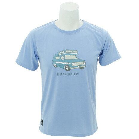 シェラデザインズ(SIERRA DESIGNS) 防虫 キャンプカーTシャツ 20923257-35.SBLU (Men's)