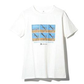 スノーピーク(snow peak) トートラインヒッチ Tシャツ TS-19SU102 WH (Men's)