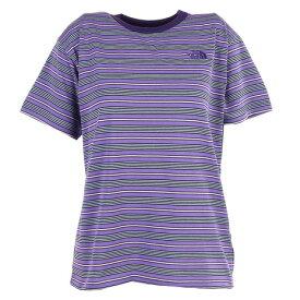 ノースフェイス(THE NORTH FACE) 半袖Tシャツ ショートスリーブマルチボーダーTシャツ NTW32138 PO (レディース)