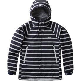 ヘリーハンセン(HELLY HANSEN) スカンザへリーレインスーツ Scandza Helly Rain Suit HOE11700 N1 ボーダーネイビー ウィレインウェア (Lady's)