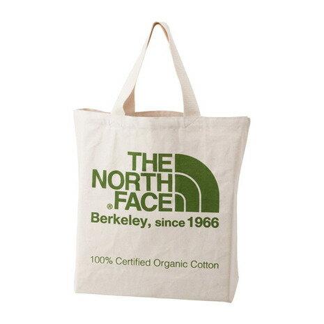 ノースフェイス(THE NORTH FACE) TNFオーガニックコットントート TNF ORGANIC COTTON TOTE NM81616 FG ナチュラル×フラッシュライトグリーン (Men's、Lady's)