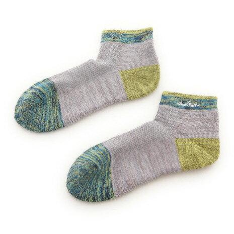 ホールアース(Whole Earth) MID WEIGHT WEIGHT SHORT SOCKS ショートソックス 靴下 WES17F03-7303 GRY (Men's)
