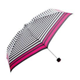 ハス(HUS) HUS. スマートデュオ ストライプブラックホワイト Smart duo Stripe BK/WH 54503 折りたたみ傘 (メンズ、レディース)