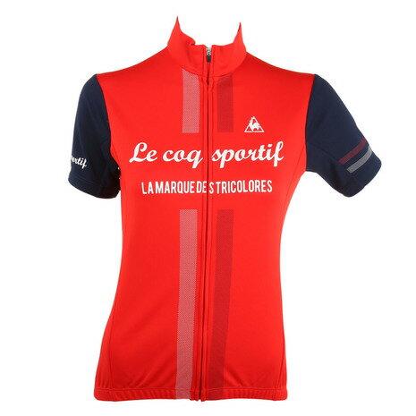 ルコック スポルティフ(Lecoq Sportif) 半袖ジャージ レディース 女性用 自転車 ウェア QC-746471 RED (Lady's)