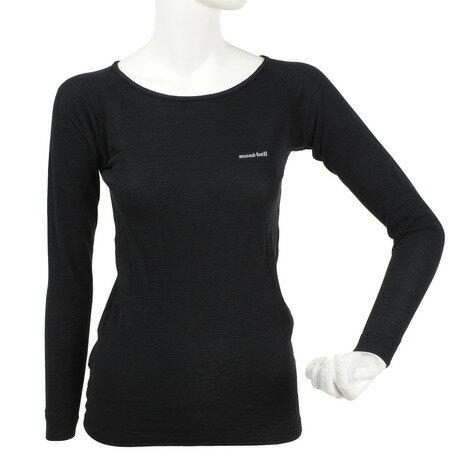 モンベル(mont-bell) ジオライン M.W. ラウンドネックシャツ Women's レディース 女性用 サイクルアンダーウェア 1107283 BK (Lady's)