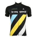 ルコック スポルティフ(Lecoq Sportif) 半袖ジャージ メンズ 男性用 自転車 ウェア QC-741371 BLK (Men's)