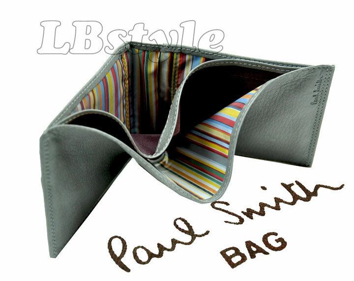 ポールスミス 財布 paulsmith 財布 ポール・スミス スリムウォレット牛革 小銭入れ付き 二つ折り財布 マルチストライプ 財布 ポールスミス100-0380