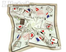 Lulu Guinness ハンカチ 刺繡 ルルギネス ハンカチ 50×50cm 大判 レディース 刺繍 ハンカチ 綿100% 日本製800-0101