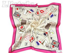 Lulu Guinness ハンカチ 刺繡 ルルギネス ハンカチ 50×50cm 大判 レディース 刺繍 ハンカチ 綿100% 日本製800-0102