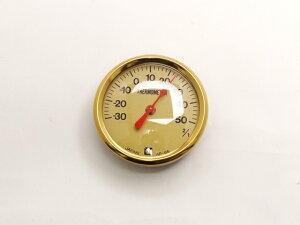 温度計 φ6.5cm[協進エル] レザークラフト副資材 壁掛け時計