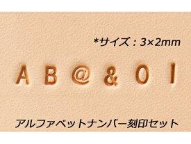 アルファベットナンバー刻印セット 約3mm 英字26個、数字10個、記号2個、打ち棒1本【送料無料】 【メール便選択可】 [協進エル] レザークラフト刻印 アルファベット・数字刻印