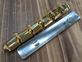クラウゼバインダー マイクロサイズ 5穴タイプ 本金 長さ105mm リング内径13mm 1ヶ【メール便選択可】 [ぱれっと] レザークラフト金具 バインダー金具
