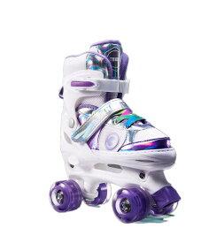 ローラースケート フィットネス靴 PU ウィールが光る クリスマス プレゼント 誕生日 スポーツ 子供用/ジュニア用 初心者向け サイズ調整可能