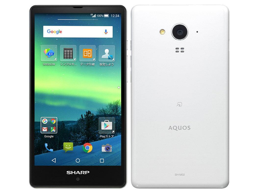 【新品・未使用】SHARP(シャープ) AQUOS SH-M02[White] SIMフリー 白ロム 格安スマホ 携帯電話 スマートフォン