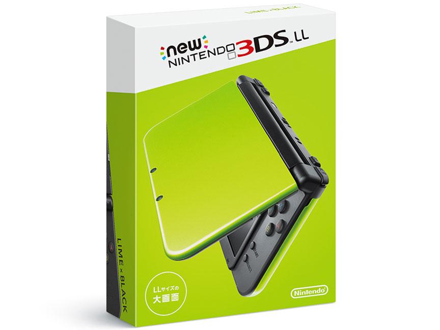 任天堂(Nintendo) Newニンテンドー3DS LL [ライム×ブラック] 携帯ゲーム機 本体