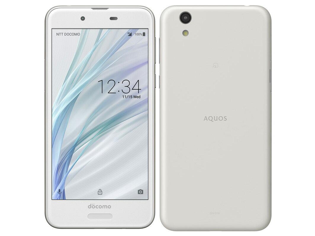AQUOS sense SH-01K [Silky White] SIMロック解除済 docomo 白ロム 2017年冬春モデル 5インチ