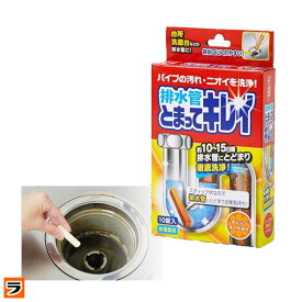 排水管とまってキレイ 排水管洗浄剤 スティック状 10錠入り オレンジオイル配合 排水溝 洗浄 つまり ぬめり取り