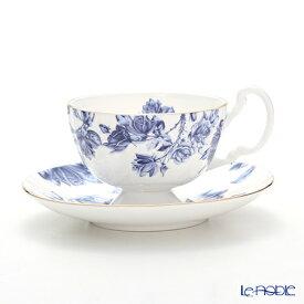 【ポイント19倍】エインズレイ エリザベスローズ ブルー ティーカップ&ソーサー(オーバン) 180ml おしゃれ かわいい 食器 ブランド 結婚祝い 内祝い