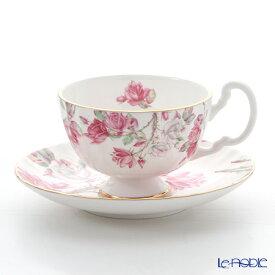 【ポイント19倍】エインズレイ エリザベスローズ ピンク ティーカップ&ソーサー(オーバン) 180ml おしゃれ かわいい 食器 ブランド 結婚祝い 内祝い