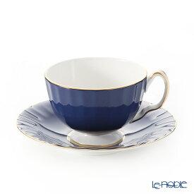 エインズレイ コテージガーデン #2973 ティーカップ&ソーサー(オーバン) コバルト 180ml おしゃれ かわいい 食器 ブランド 結婚祝い 内祝い