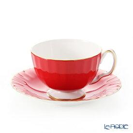 【ポイント19倍】エインズレイ コテージガーデン #2973 ティーカップ&ソーサー(オーバン) レッド 180ml おしゃれ かわいい 食器 ブランド 結婚祝い 内祝い