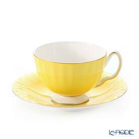 エインズレイ コテージガーデン #2973 ティーカップ&ソーサー(オーバン) イエロー 180ml おしゃれ かわいい 食器 ブランド 結婚祝い 内祝い